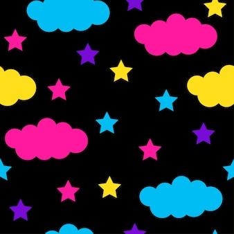 Modello senza cuciture astratto. sfondo moderno campione per biglietto d'auguri, invito a una festa per bambini, carta da parati, carta da regalo per le vacanze, poster di vendita del negozio, tessuto, stampa di borse, t-shirt, pubblicità di officina