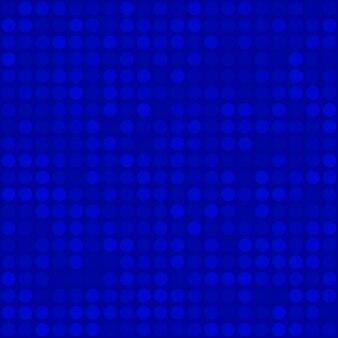 Modello senza cuciture astratto di piccoli cerchi o pixel nei colori blu