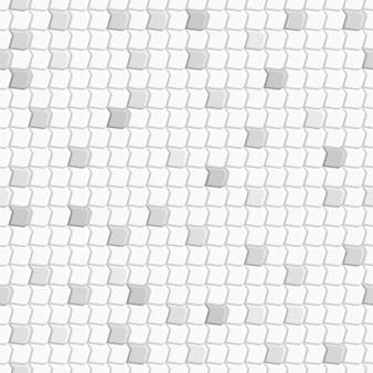 Modello senza cuciture astratto di piastrelle montate l'una sull'altra, nei colori bianco e grigio