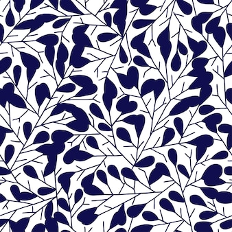 Modello senza cuciture astratto con foglie. l'illustrazione vettoriale può essere utilizzata come biglietto di auguri, tessile, album di ritagli, carta da parati, compleanno e altre festività e sfondo carino.