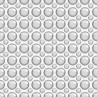 Modello senza cuciture astratto con elementi rotondi in colori grigi