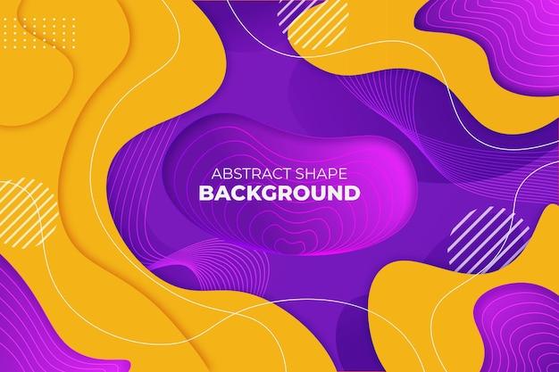 Forma astratta sfondo viola e giallo