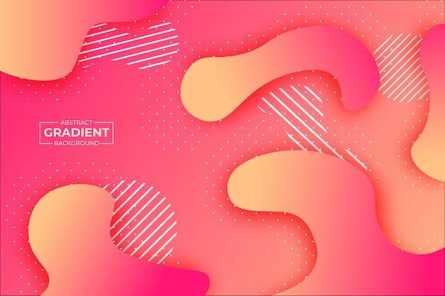 Forma astratta sfondo sfumato rosa e arancione