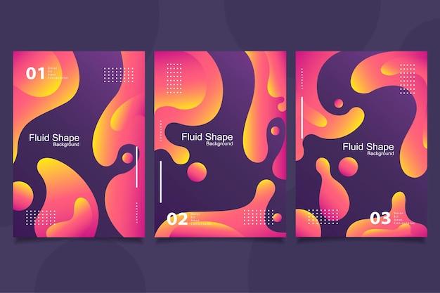 Collezione di copertine di forme astratte