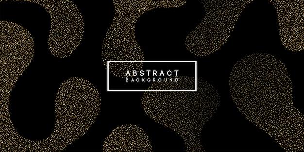 Elemento di design astratto colore oro lucido con effetto glitter su sfondo scuro
