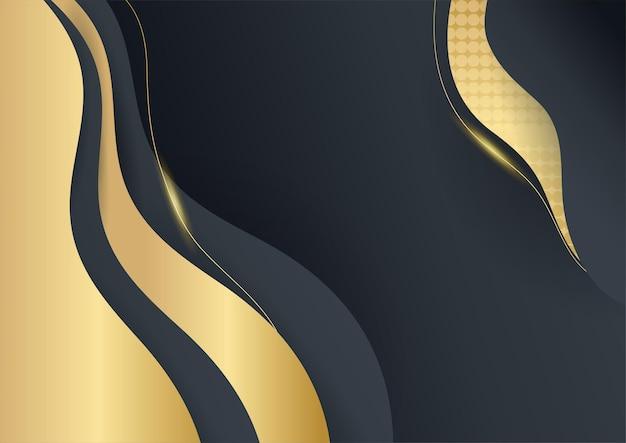 Elemento di disegno astratto dell'onda dell'oro di colore brillante