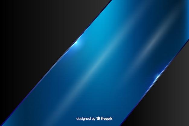 Priorità bassa blu metallica lucida astratta Vettore Premium