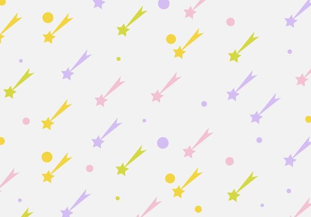 Fondo senza cuciture astratto del modello della stella cadente. illustrazione vettoriale. sfondo astratto.