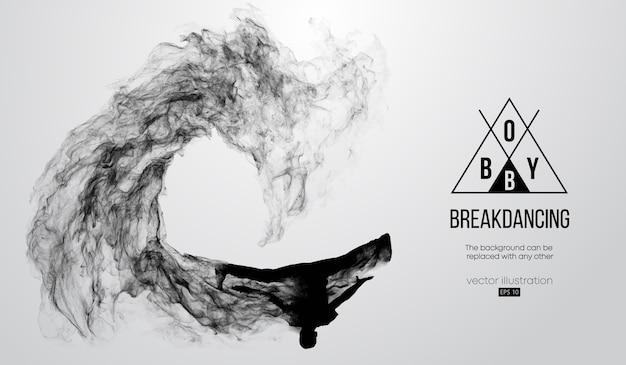 Siluetta astratta di un breakdancer Vettore Premium
