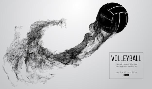 Siluetta astratta di un'illustrazione della sfera di pallavolo