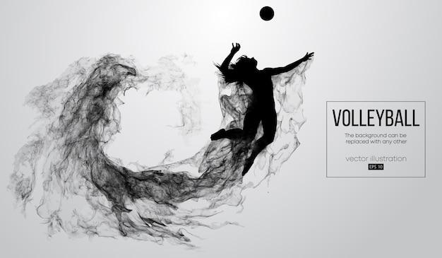 Siluetta astratta di un'illustrazione della donna del giocatore di pallavolo