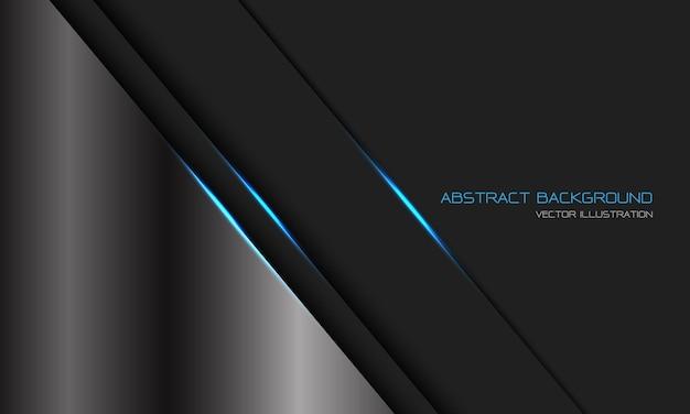 Linea di luce blu metallizzata grigio scuro argento astratto barra con sfondo di tecnologia futuristica di lusso moderno design spazio vuoto Vettore Premium