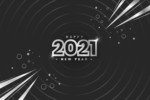 Astratto argento felice anno nuovo 2021