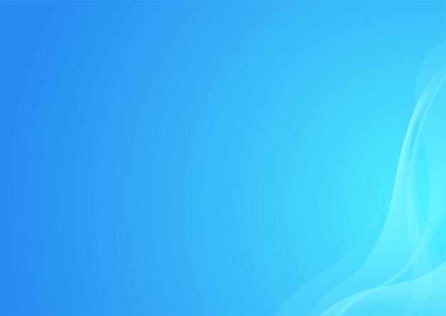 Fondo blu delle onde curve lisce astratte