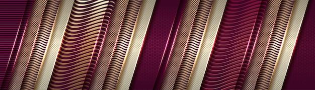 Astratto liscio sul gradiente viola e oro sfocatura dello sfondo del modello