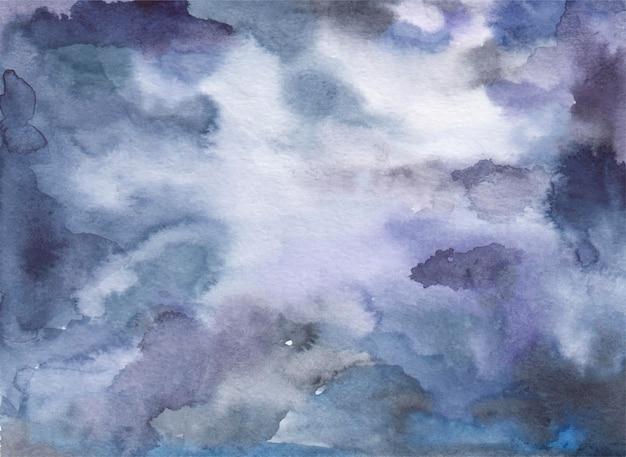 Fondo dell'acquerello dello spazio astratto, macchie e macchie, illustrazione