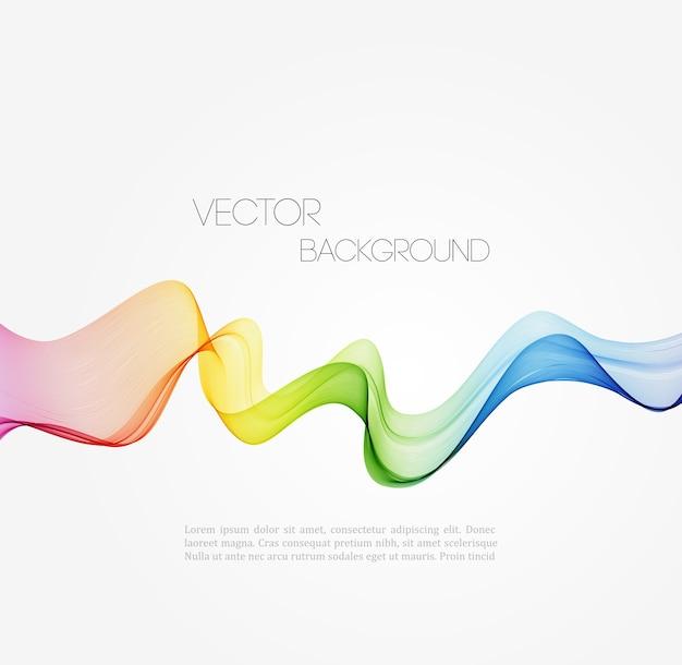 Sfondo di linee curve spettro astratto. design brochure modello