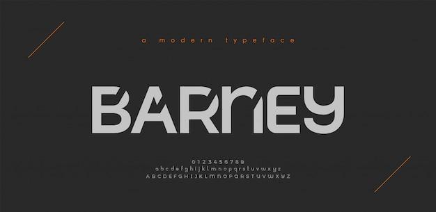 Font alfabeto moderno sport astratto. tecnologia tipografica sport elettronico gioco digitale musica carattere creativo futuro