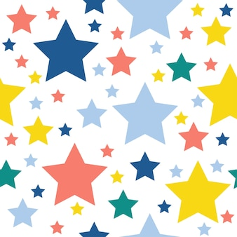 Fondo senza cuciture del modello della stella astratta. carta da parati infantile artigianale per biglietti di design, carta da parati, album, album di ritagli, carta da regalo per le vacanze, tessuto, stampa di borse, t-shirt ecc.