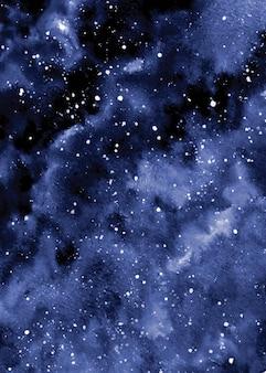 Cielo notturno stellato astratto nel fondo dell'acquerello della galassia