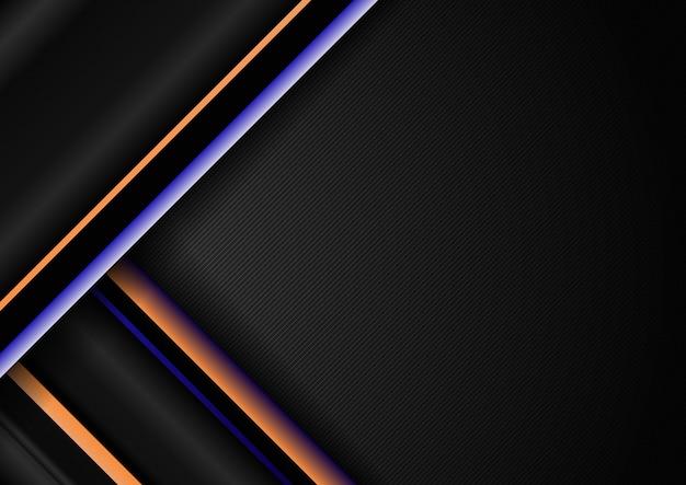 Modello di linee geometriche diagonali striscia astratta