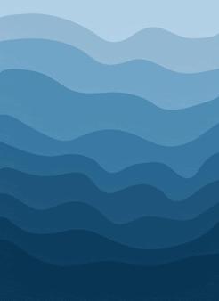 Fondo alla moda astratto con le onde dell'oceano