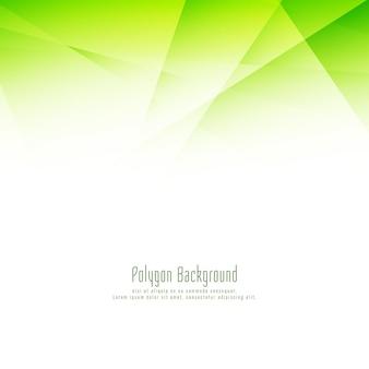 Fondo elegante di progettazione del poligono verde alla moda astratto