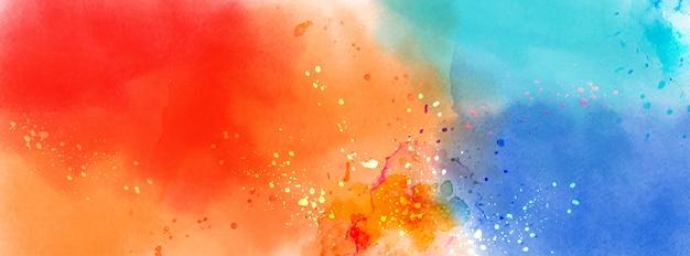 Superficie astratta dell'acquerello splatter multicolore
