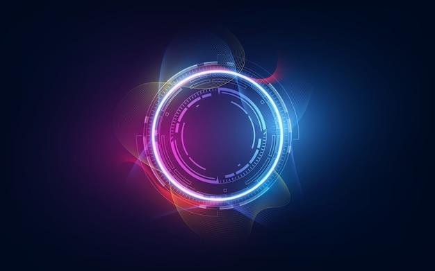 Fondo innovativo futuristico di concetto di tecnologia astratta