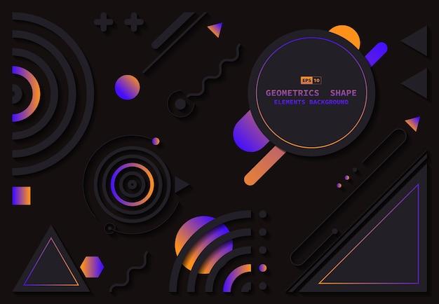 Fondo decorativo del materiale illustrativo della copertura di progettazione dell'elemento geometrico astratto di tecnologia.