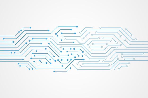 Fondo astratto di tecnologia, modello blu del circuito
