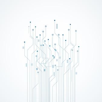 Sfondo astratto di tecnologia, circuito blu
