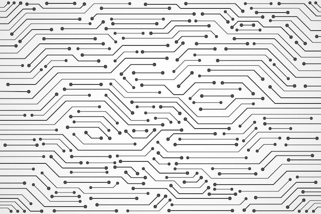 Sfondo astratto di tecnologia, modello di circuito stampato