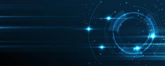 Fondo astratto di tecnologia illustrazione di vettore del fondo dell'innovazione di concetto di comunicazione hi-tech
