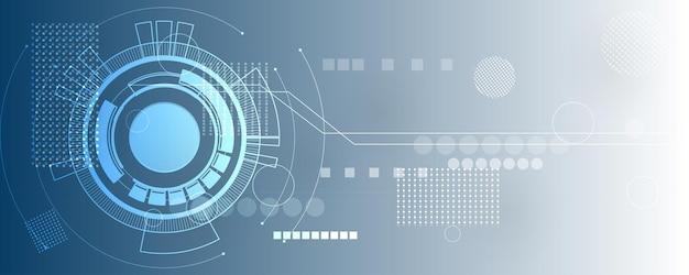 Fondo astratto di tecnologia, illustrazione, innovazione del concetto di comunicazione hi-tech
