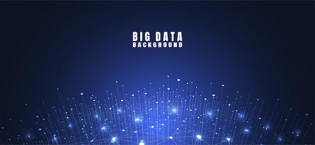 Sfondo astratto tecnologia con grandi quantità di dati