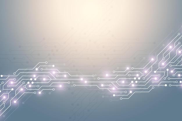 Fondo astratto di tecnologia con struttura del circuito