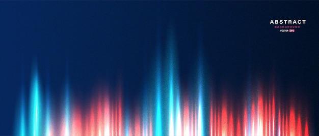Banner tecnologico astratto con effetto luce al neon in movimento