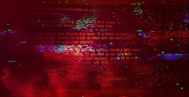 Astratto codice binario tecnologia sfondo rosso scuro. concetto di attacco informatico, ransomware, malware, scareware
