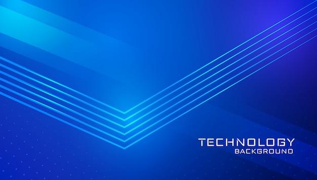Tecnologia astratta sfondo blu