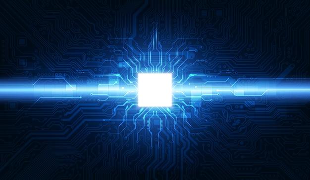 Circuito di sfondo processore chip tecnologia astratta