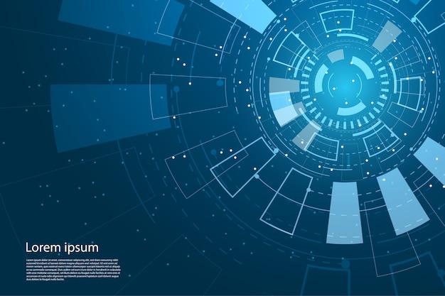 Tecnologia astratta circle e futura tecnologia interface