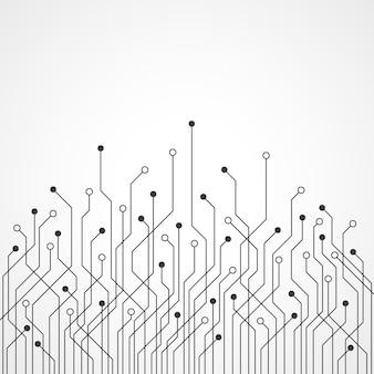 Fondo astratto del circuito di tecnologia con space