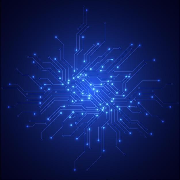 Struttura astratta del circuito di tecnologia. scheda madre elettronica. comunicazione e concetto di ingegneria. illustrazione vettoriale