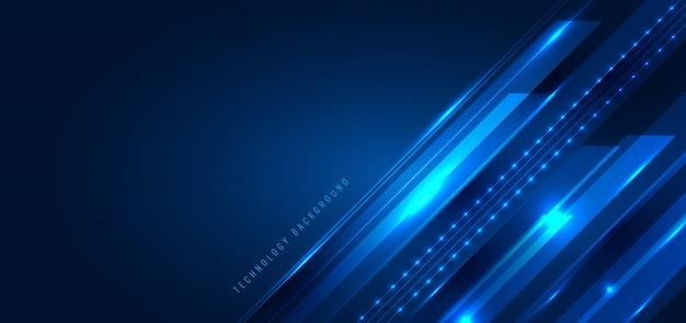 Linee astratte delle bande diagonali di concetto astratto di tecnologia