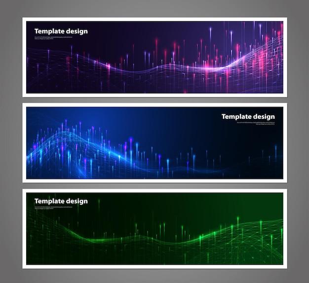 Wireframe futuristico della rete del fondo di visualizzazione dei dati di tecnologia astratta artificiale