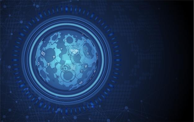 Priorità bassa astratta del globo di tecnologia