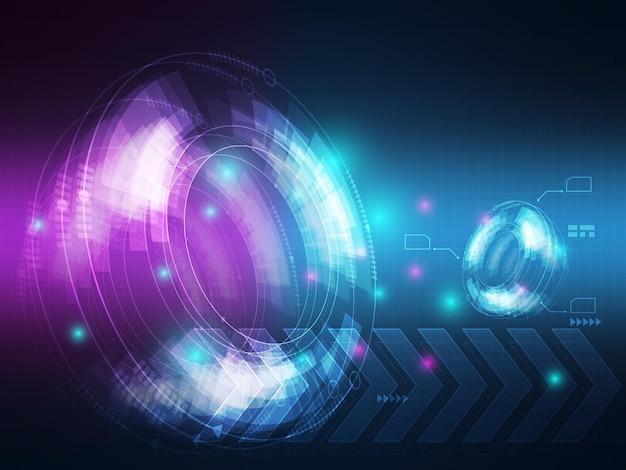 Tecnologia astratta ciao illustrazione del fondo di comunicazione di trasferimento di dati di tecnologia