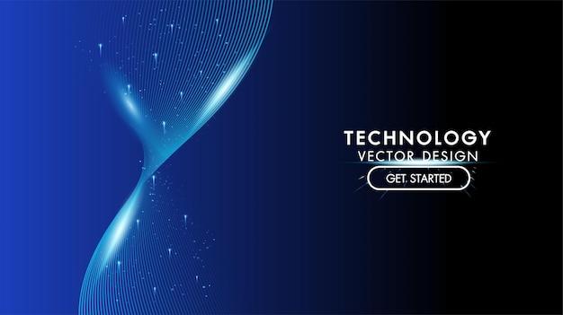 Tecnologia astratta hitech concetto di comunicazione tecnologia digitale innovazione aziendale