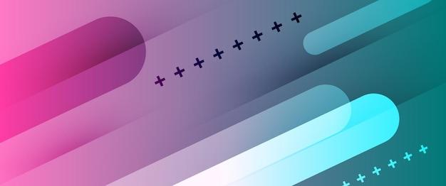 Illustrazione astratta di vettore del fondo della carta da parati di pendenza del turchese di rosa di tecnologia